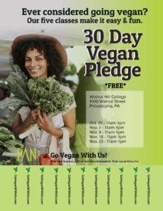 West Philly 30 Day Vegan Pledge
