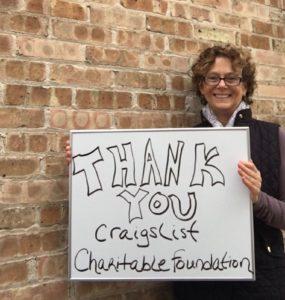 Alison Thanks the Craigslist Foundation