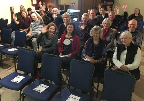 Audience at a community screening of Kangaroo: A Love-Hate Story