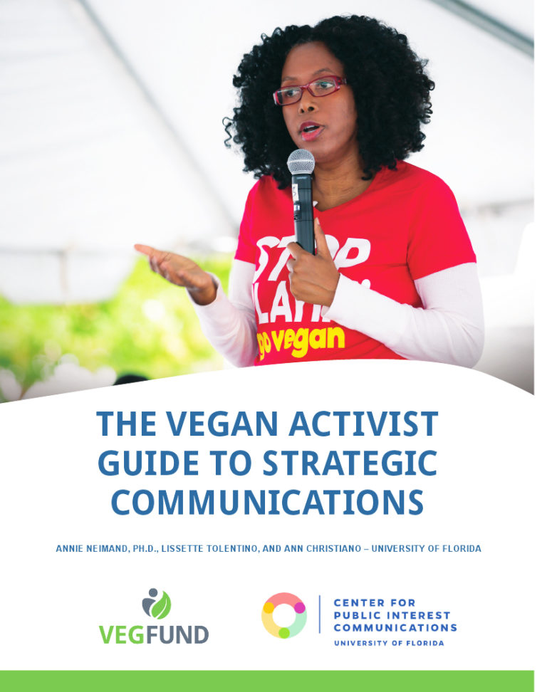 The Vegan Activist Guide to Strategic Communications workbook