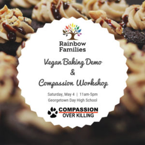 Rainbow Families Conference: Vegan Baking Demo and Compassion Workshop