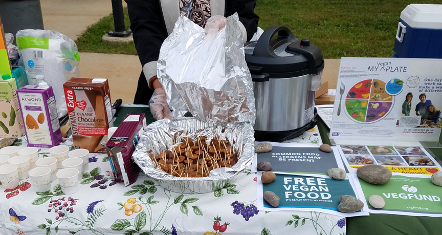 Vegan Outreach food sampling