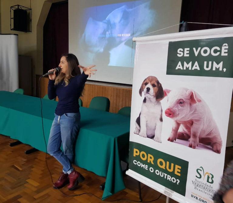 CineDebates Film Screening Activism by Sociedade Vegetariana Brasileira at UNIPAMPA