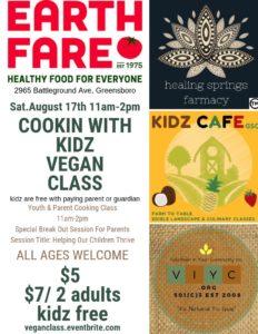 Cookin with Kidz Vegan Class
