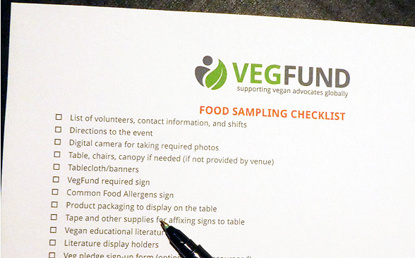 Food sampling checklist