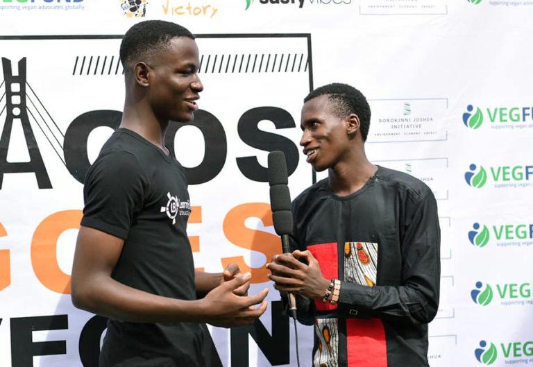 Joshua Borokinni Lagos Goes Vegan