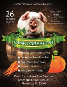 Oinktoberfest Critter Creek Farm Sanctuary